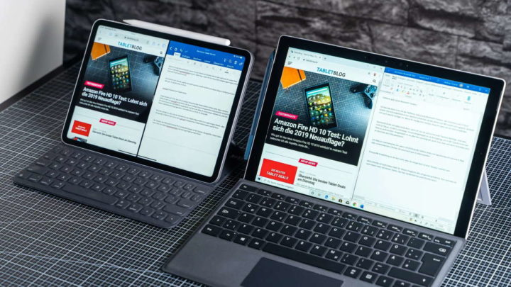 Annonce Surface Pro iPad Pro Microsoft Apple