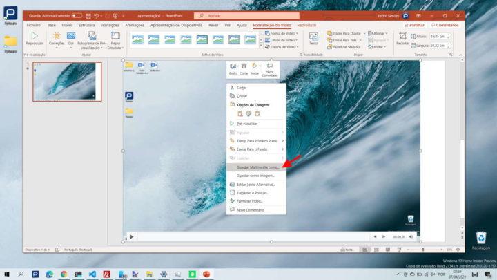 Windows 10 enregistrer une vidéo sur le bureau PowerPoint