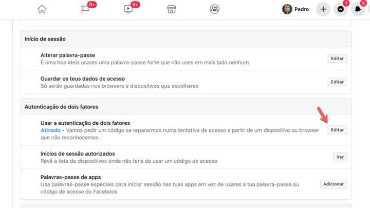 Sécurité Facebook: activez l'authentification à deux facteurs maintenant