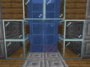 A water elevator in Minecraft.