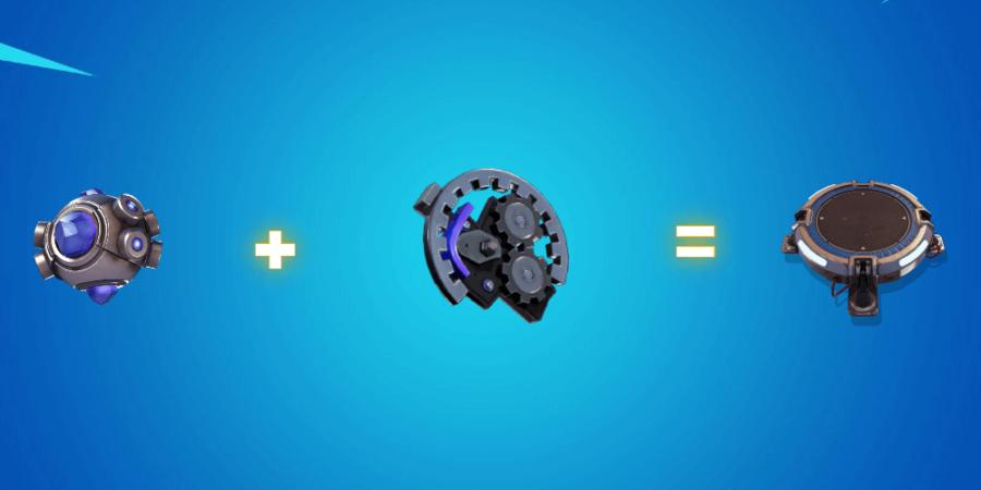 Grenade Shockwave et pièces mécaniques.