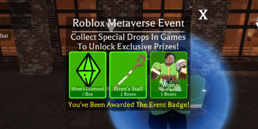 Gagner le badge Wren de l'événement métaverse.
