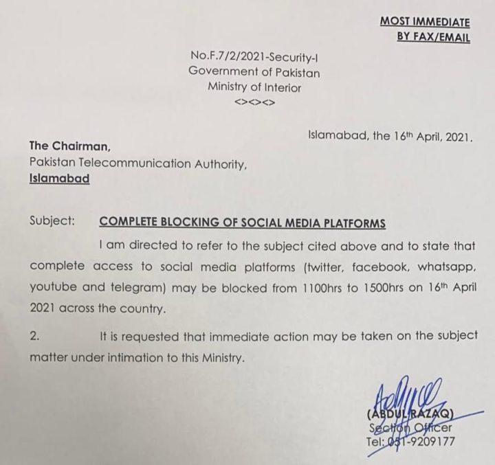 Pakistan: blocage total des réseaux sociaux en raison de manifestations