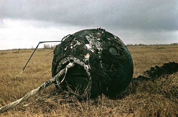 Le module de descente Vostok-1, «légèrement» brûlé par la rentrée, a atterri près du site d'atterrissage de Gagarine - Source: Fédération de Russie