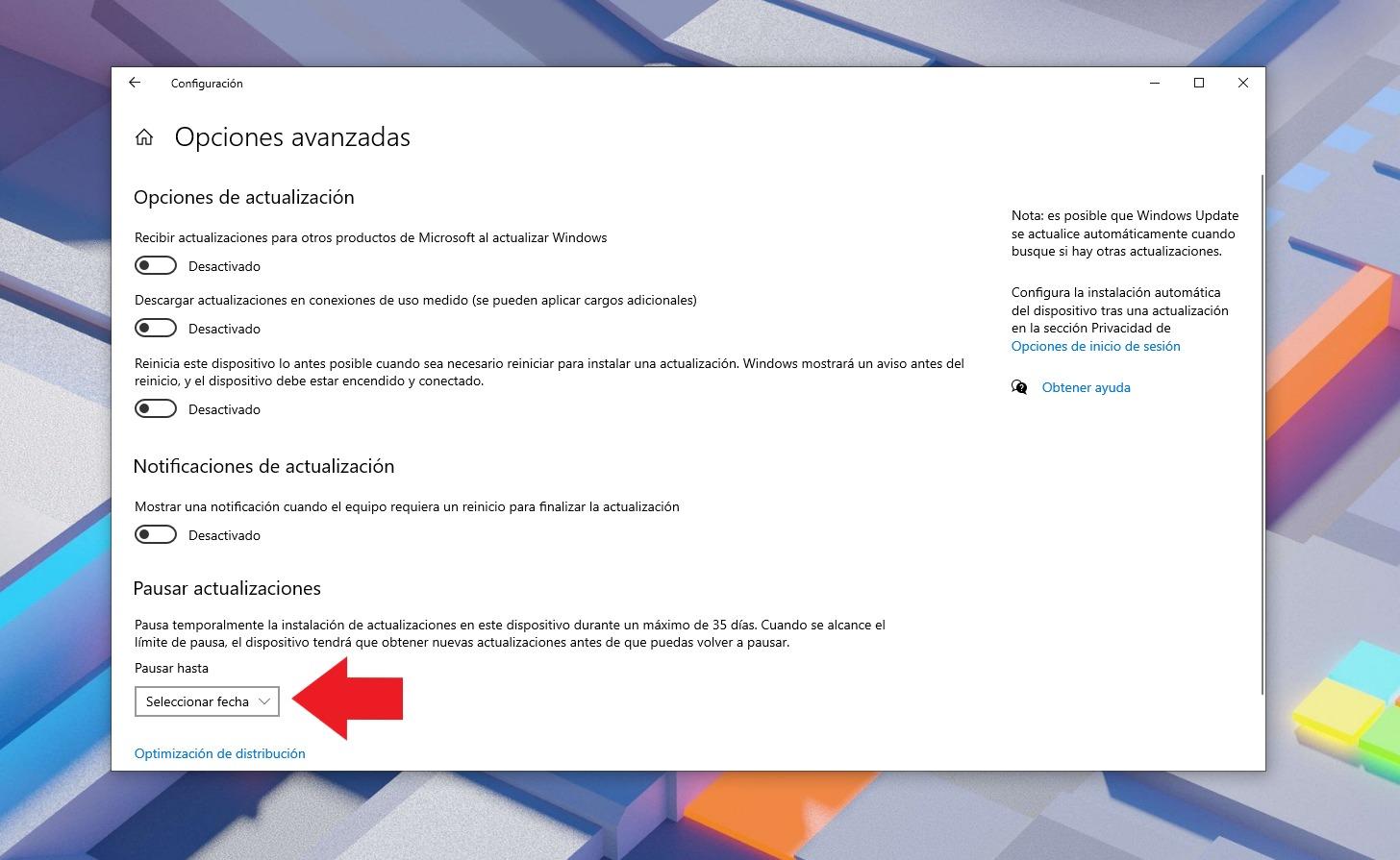 Suspendre les mises à jour dans Windows 10