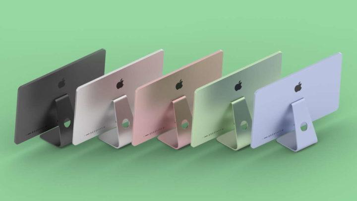 Nouveautés colorées de l'iMac d'Apple