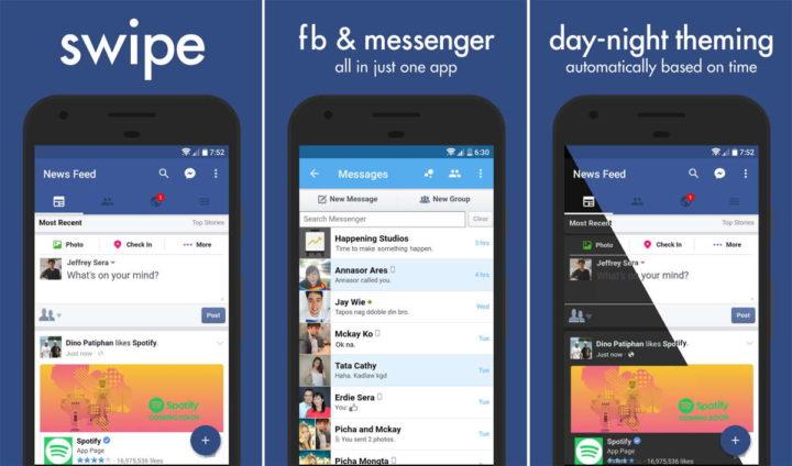 Applications Facebook Play Store Swipe développeurs