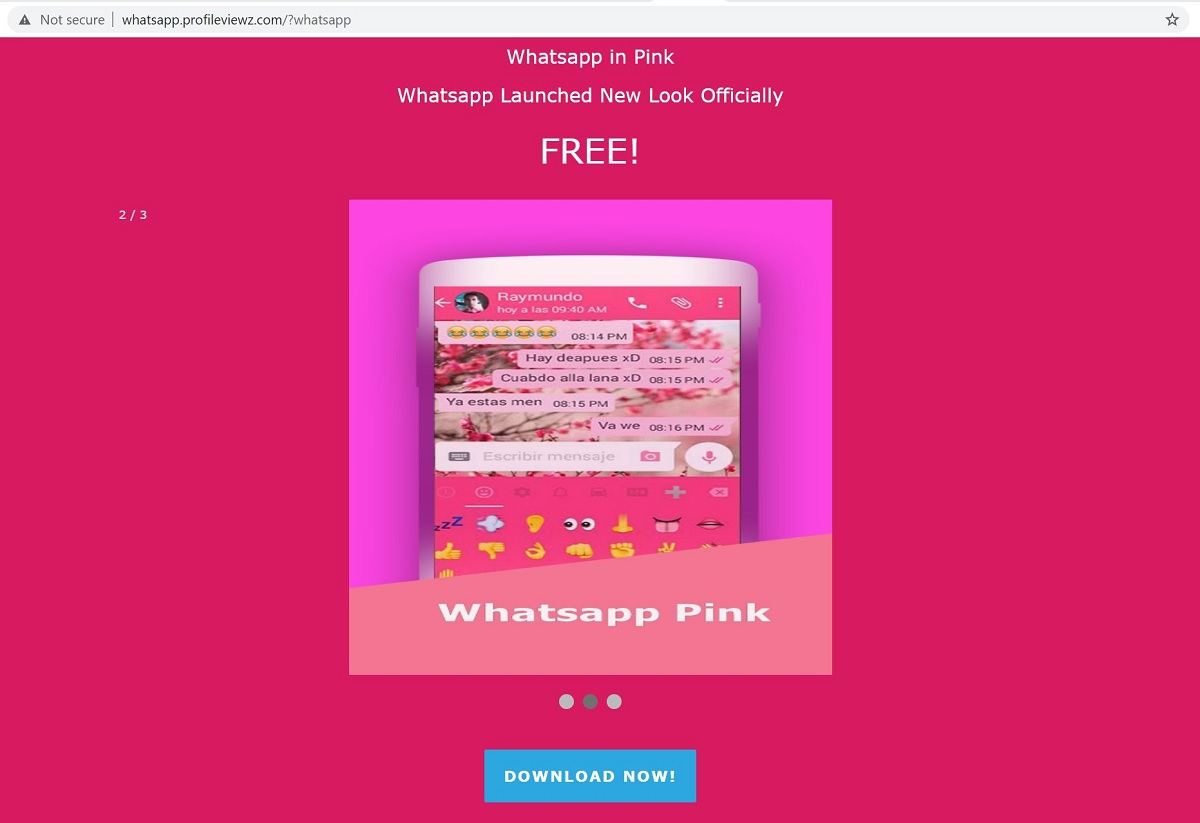 Arnaque WhatsApp Pink