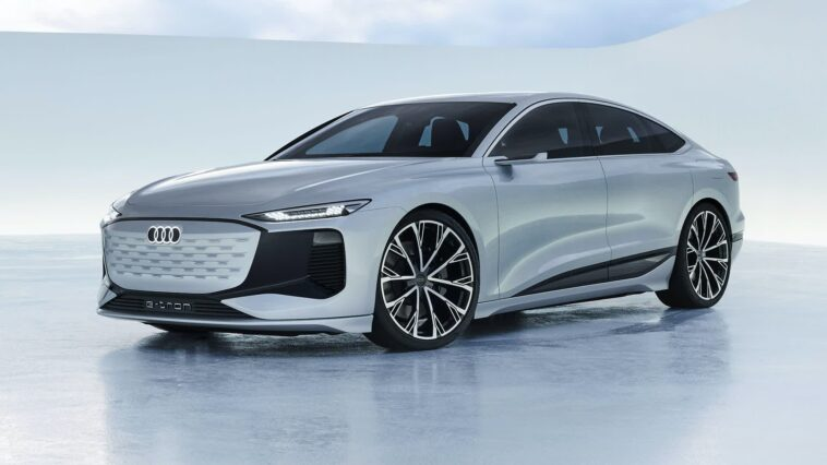 The Audi A6 e-tron concept can project video games with its headlights