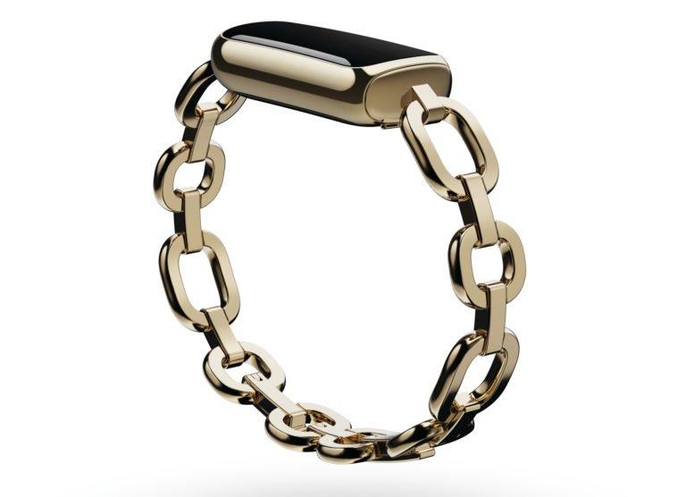 Fitbit Luxe avec bracelet en or