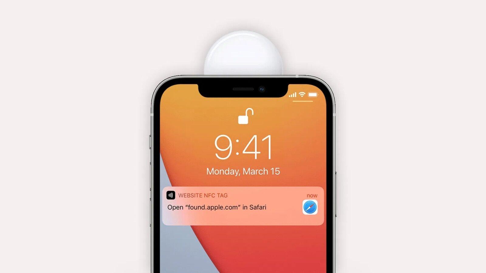 Lire AirTag avec NFC