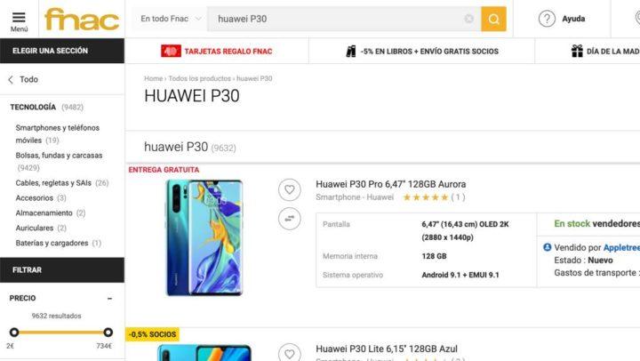 """La justice oblige la FNAC à """"livrer"""" le Huawei P30 pour seulement 124 euros"""