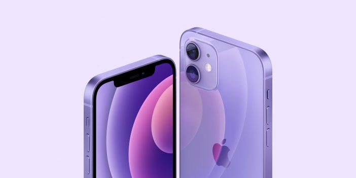 iPhone 12 en violet