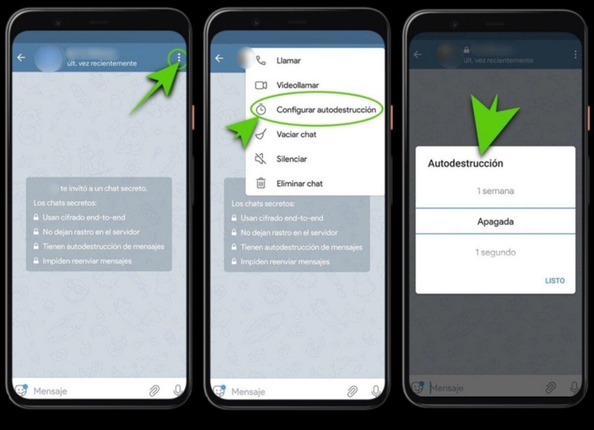 Programmer la suppression automatique des messages dans Telegram