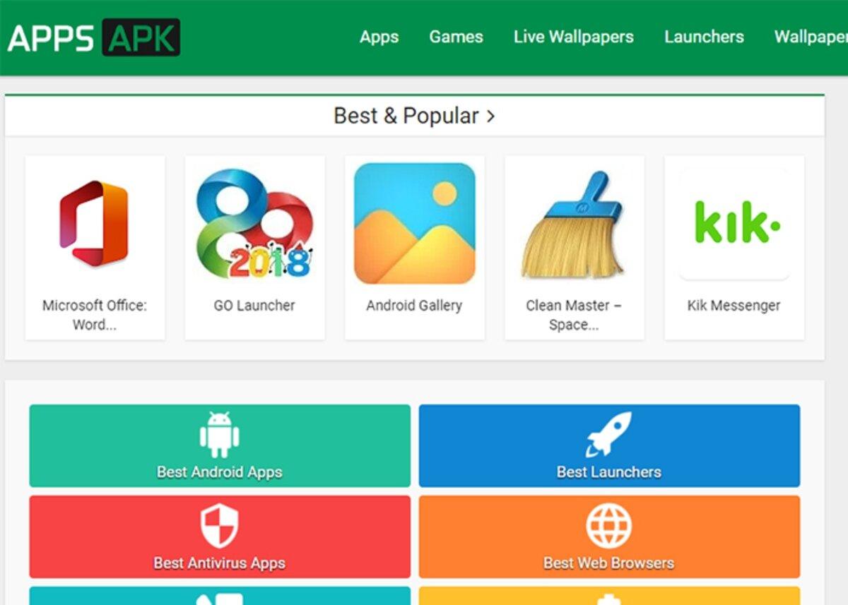AppsAPK est l'une des meilleures pages Web pour télécharger des jeux sur Android