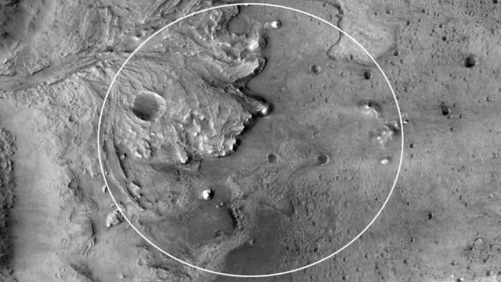 Image Delta sur Mars où la persévérance est