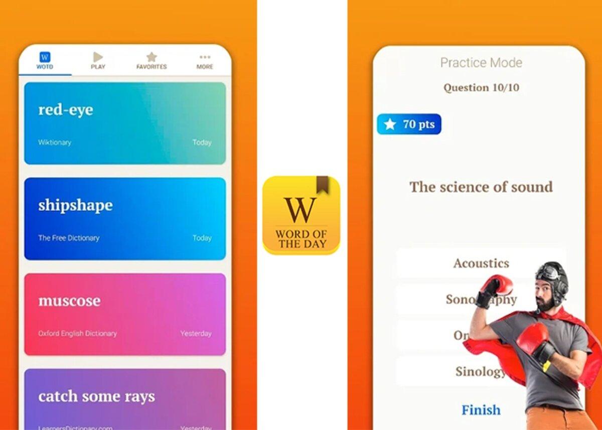 Apprenez de nouveaux mots avec Words of the Day, une application pour Android