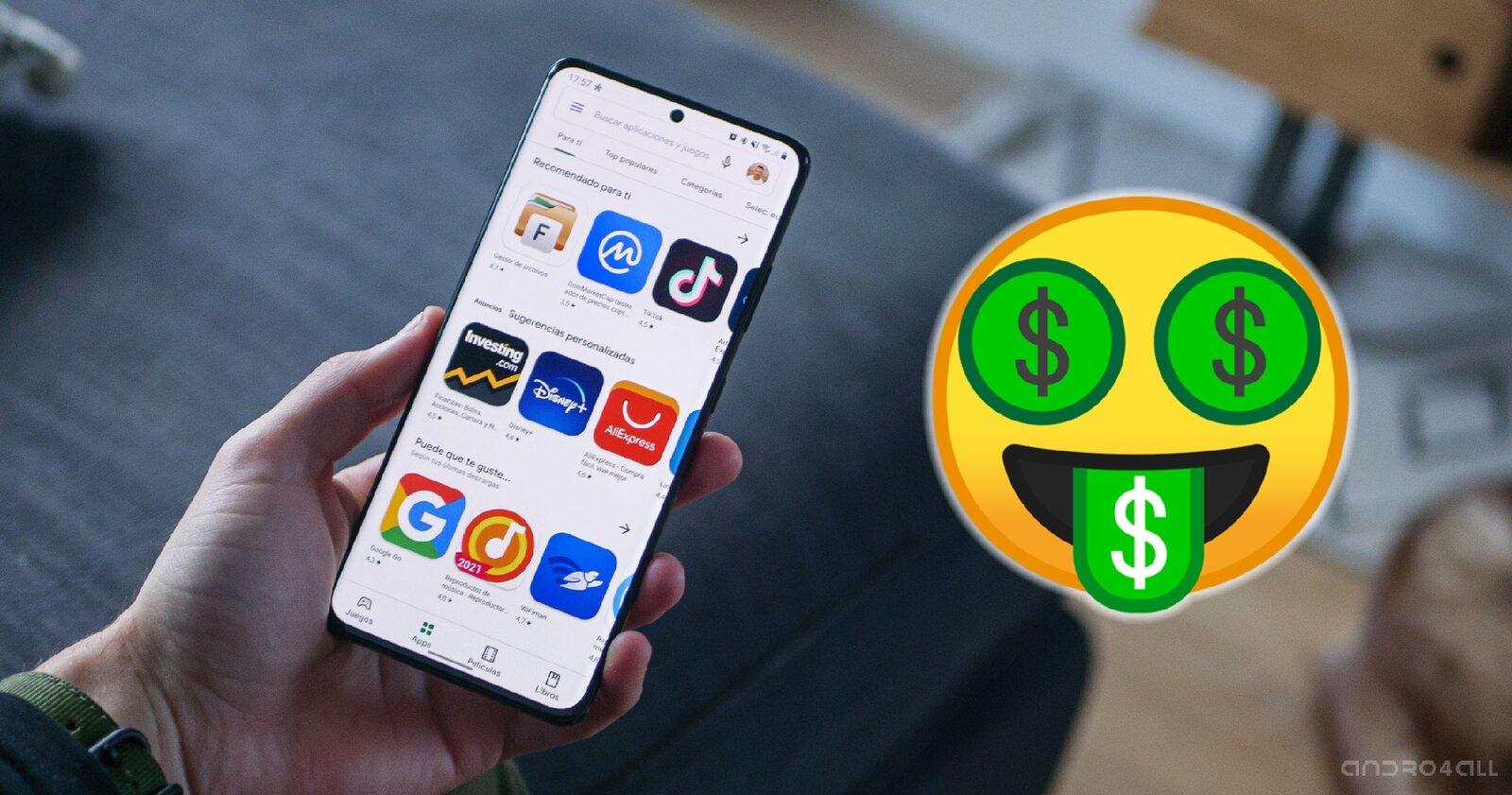 Applications en vente sur Google Play Store