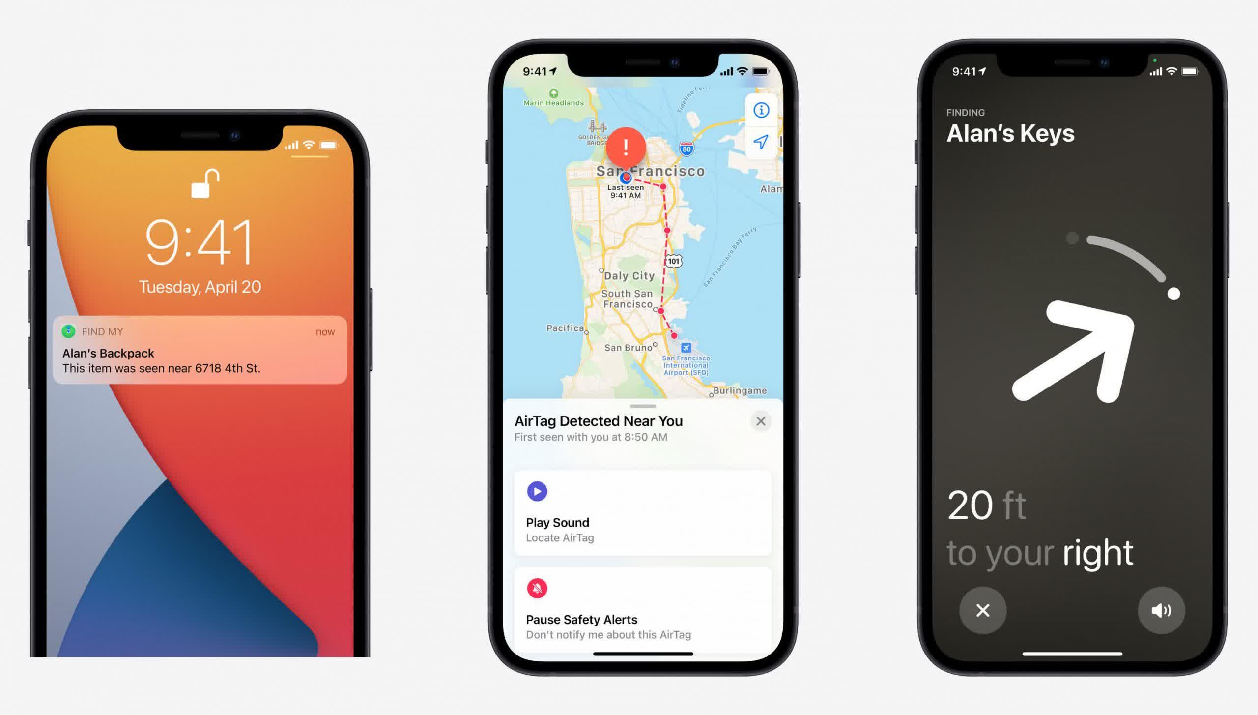 Apple revele quAirTag vous informera si vous etes harcele