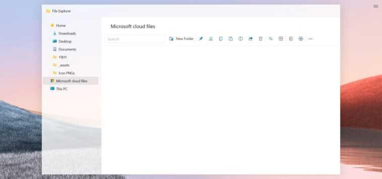 Cela pourrait être l'explorateur de fichiers Windows 10 Sun Valley
