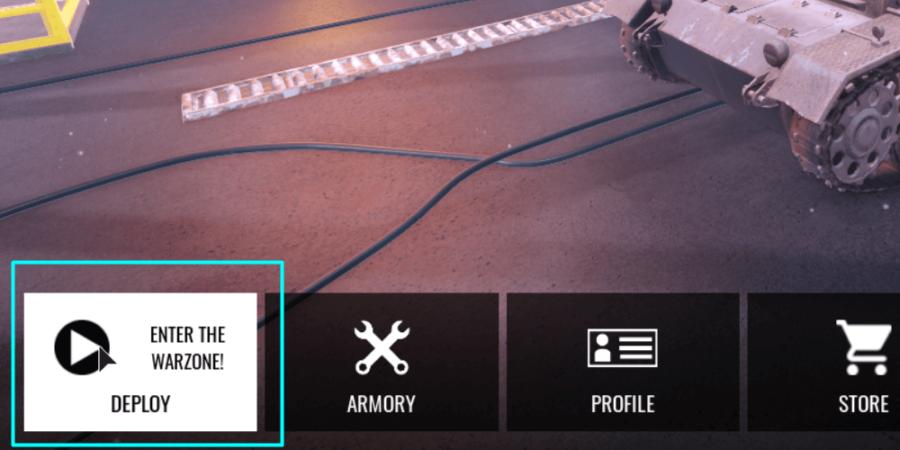 Comment rejoindre un jeu Tank Warfare.
