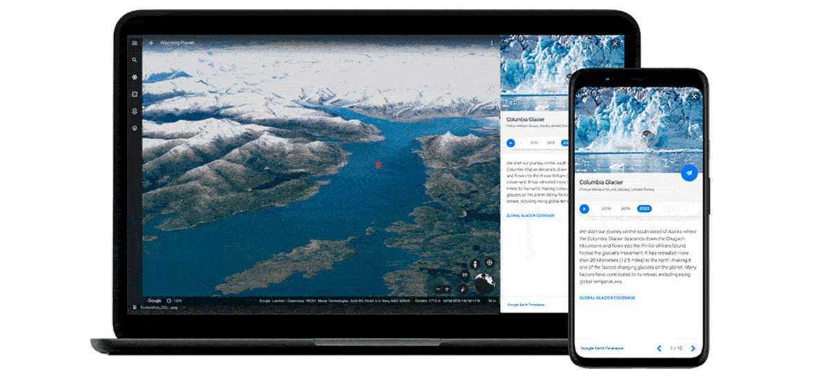 Google Earth Timelapse sur Android et ordinateur de bureau