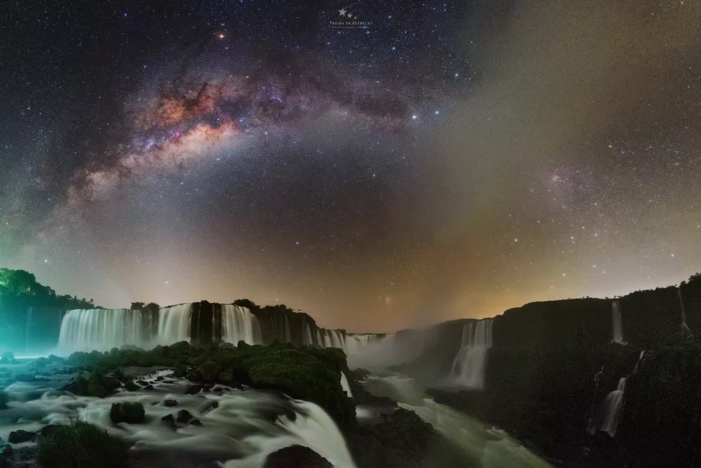 Voie lactée sur les chutes d'Iguaçu - Photo: Victor Lima /Trilhadeestrelas.com