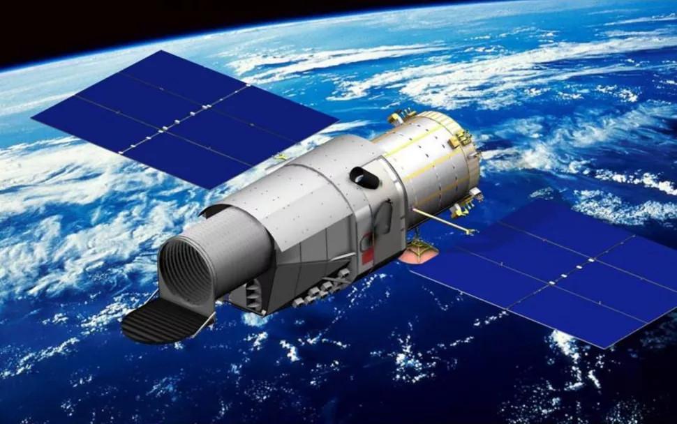 Illustration du télescope spatial chinois CSST en orbite.  Image: CNSA
