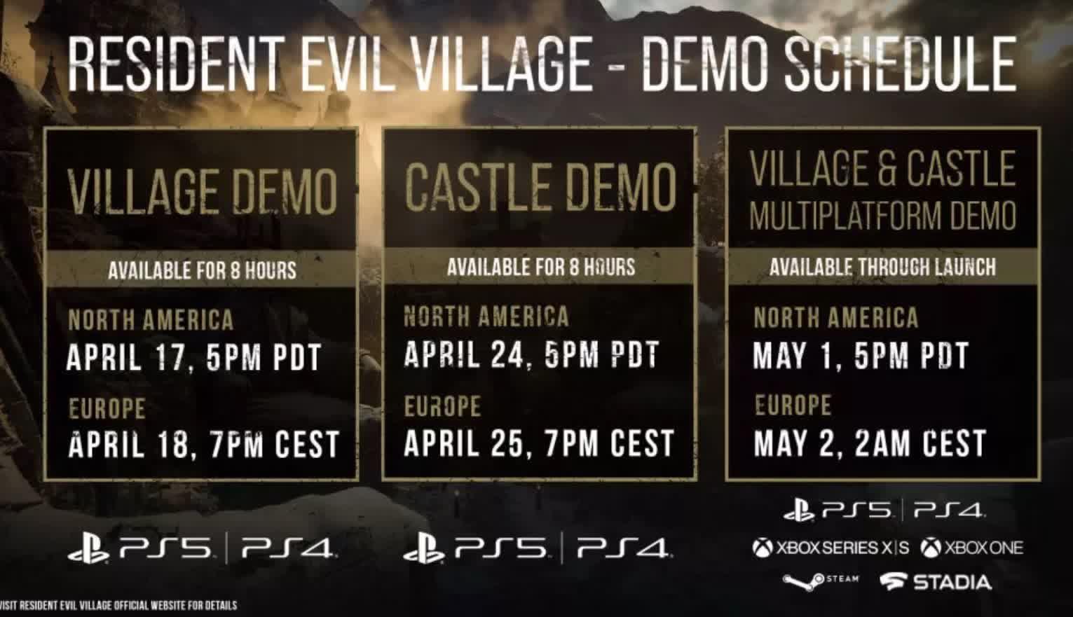 La vitrine de Resident Evil Village revele une nouvelle bande annonce