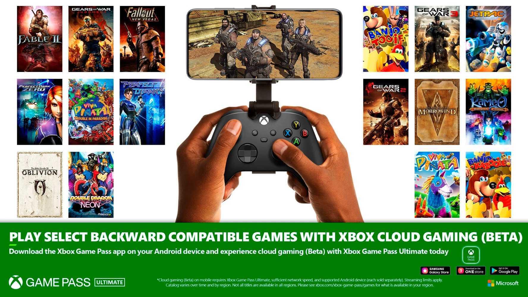 Les jeux Xbox et Xbox 360 arrivent sur Android avec Game Pass