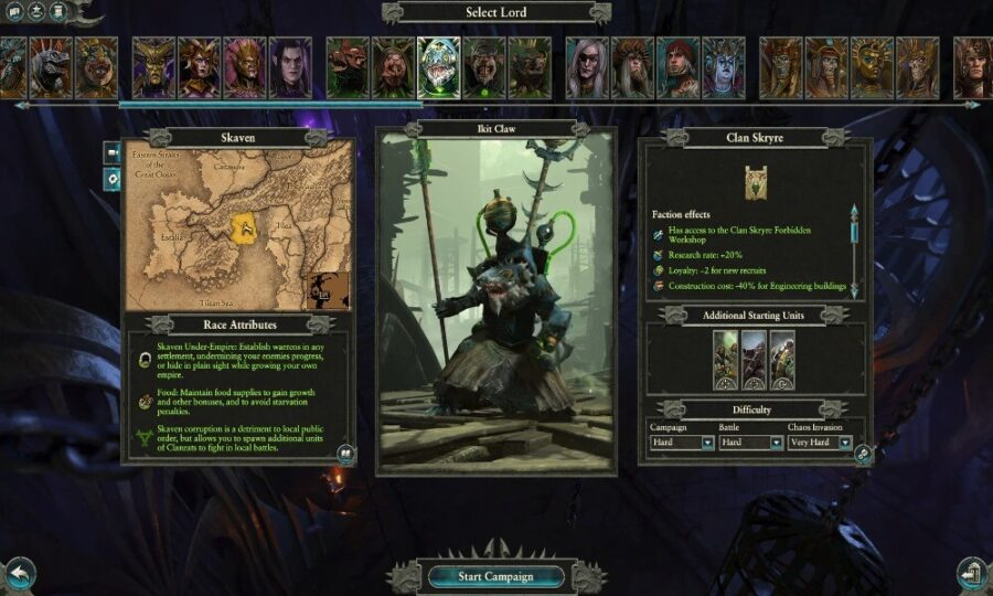 Meilleures factions de Warhammer Total War 2