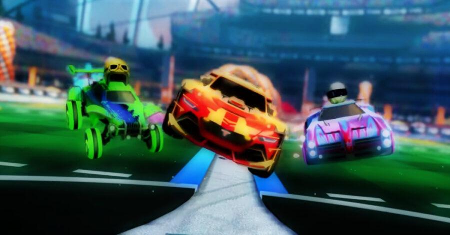 Capture d'écran du gameplay de Rocket League