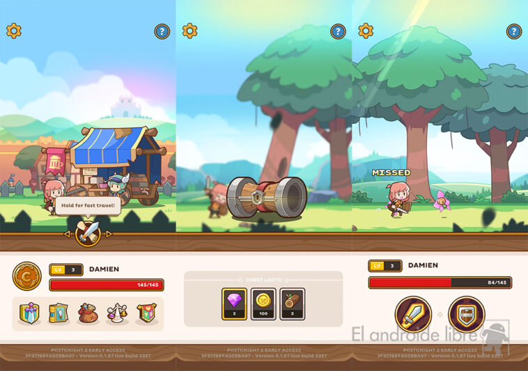 Postknight 2 sur Android