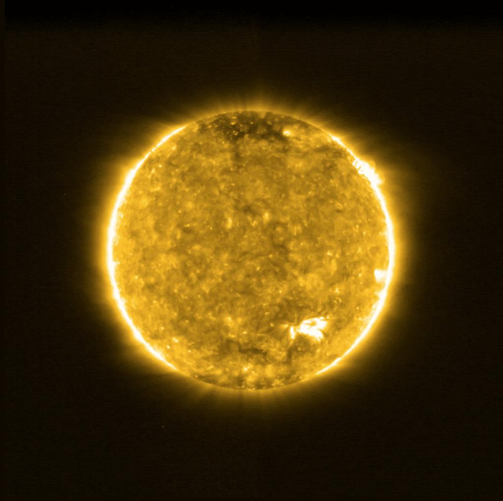 Première image du Soleil capturée par Solar Orbiter.  Image: ESA