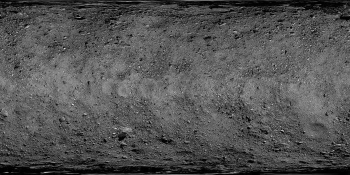 La Nasa a montré une photo du site avant que l'Osiris-REx n'atterrisse sur l'astéroïde Bennu.  Crédits: Nasa
