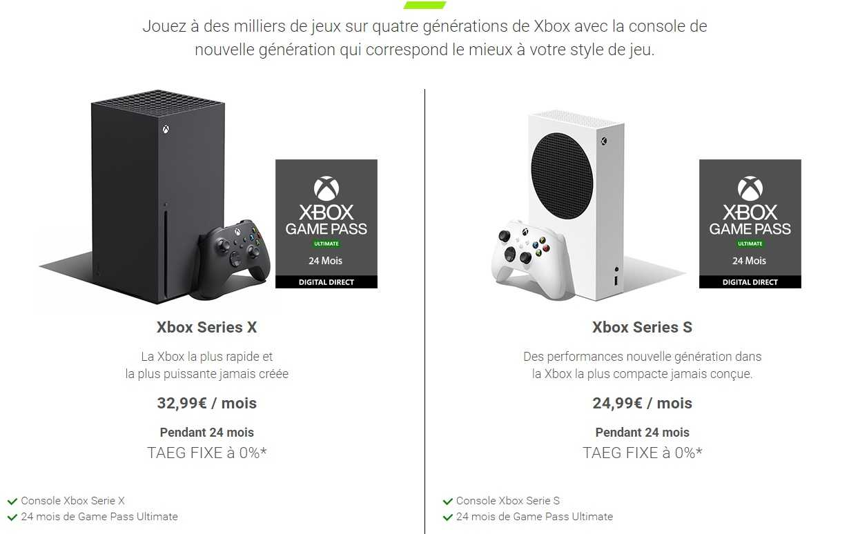Xbox All Access Abonnement Console Series X S