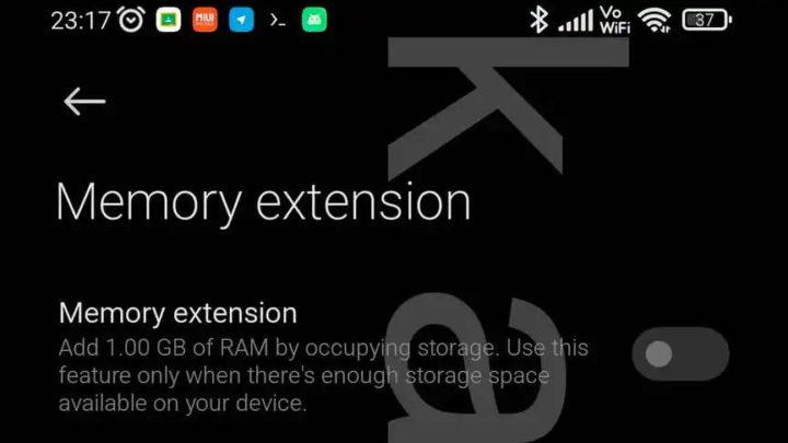 Stockage de mémoire RAM Xiaomi Android