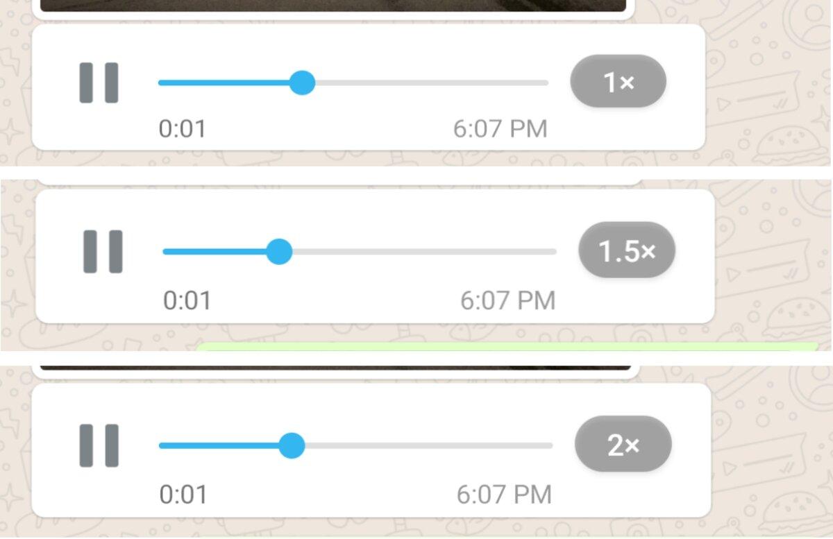 Audios rapides de WhatsApp