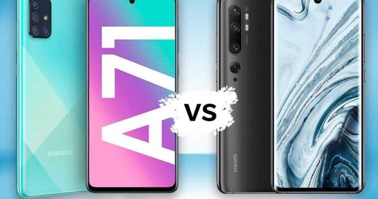 Samsung Galaxy A71 vs Xiaomi Mi Note 10, comparaison: lequel dois-je acheter?