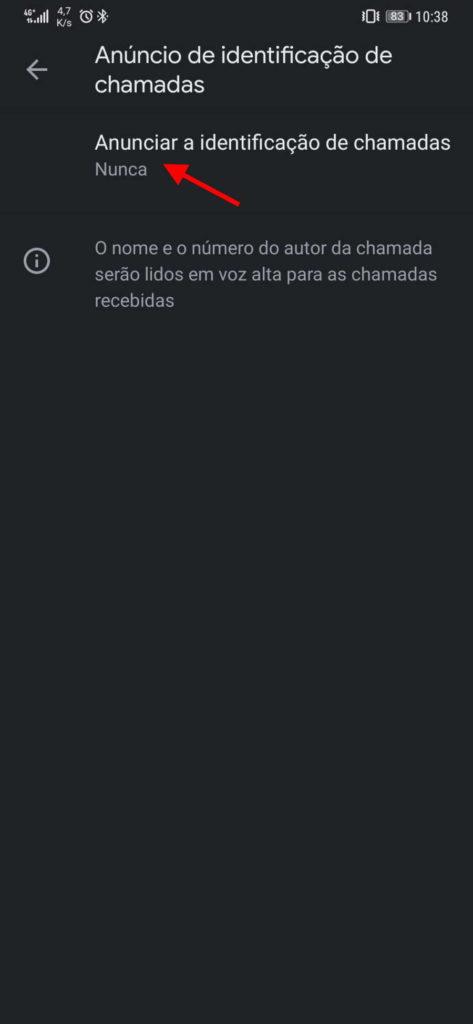 Aplicación de llamadas telefónicas de Google Android