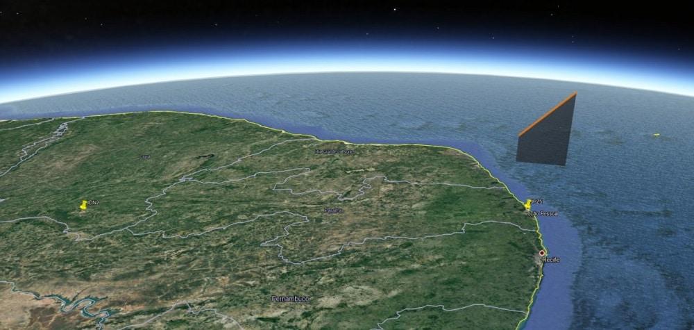 Trajectoire du météore à travers l'atmosphère.  Crédits: BRAMON
