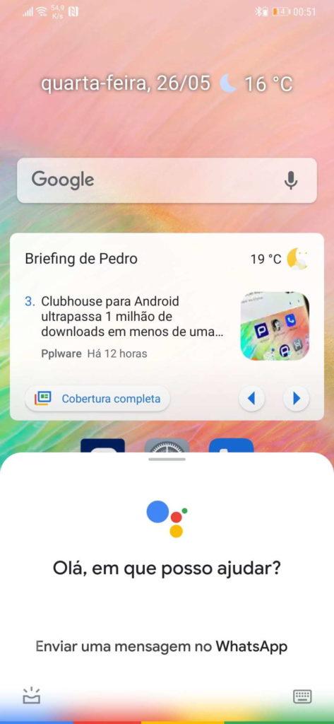 Message de l'Assistant WhatsApp Google Android