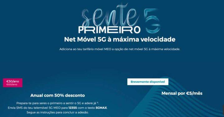 MEO avec Internet mobile 5G pour 5 euros supplémentaires par mois