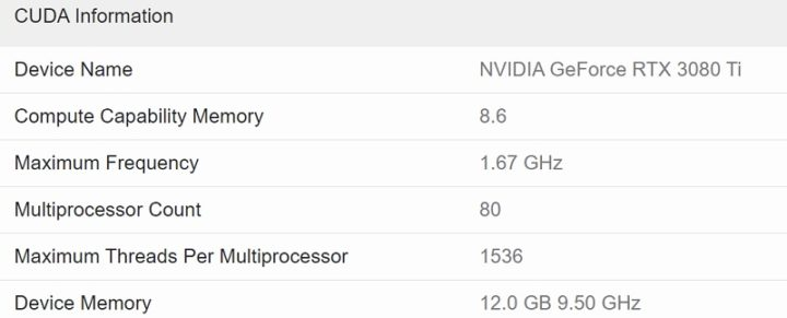 1622153344 418 Les graphiques RTX 3080 Ti de Nvidia apparaissent dans le