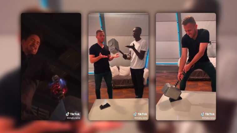 """""""Qui est le vrai Avenger?""""  Le tiktok de Khaby Lame avec le joueur de la Juventus Arthur Melo"""