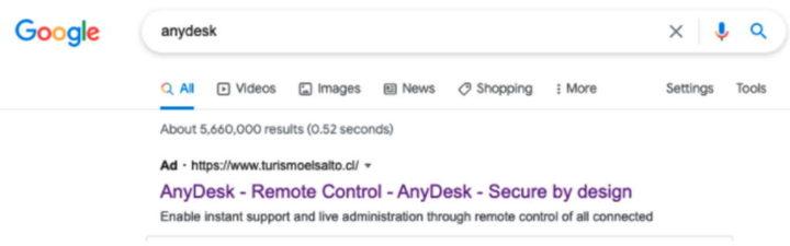 AnyDesk Security Trojan version Google