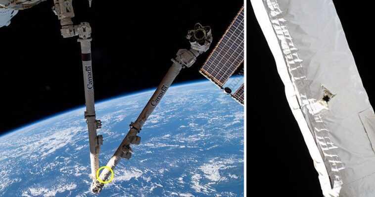 Des débris spatiaux ont frappé et endommagé la Station spatiale internationale