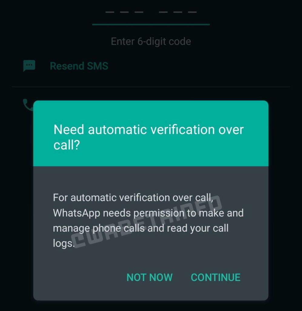 Protection des messages d'appel de sécurité WhatsApp