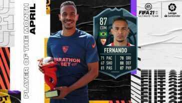FUT FIFA 21: Fernando nommé meilleur joueur de LaLiga en avril: comment relever ses défis