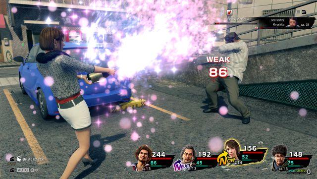 Yakuza futur système de RPG de combat au tour par tour